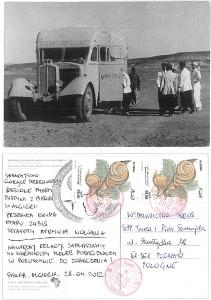 Kartka pocztowa z Algierii od sztafety Afryki Nowaka
