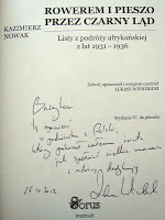 """Recenzja blogera Bazyla książki """"Rowerem i pieszo przez Czarny Ląd"""""""