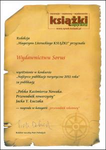 """Nagrody Magellana 2011 rozdane! wyróżnienie dla """"Polski Kazimierza Nowaka"""""""
